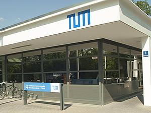 Neue Pforte der Forschungs-Neutronenquelle Heinz Maier-Leibnitz (FRM II) der Technischen Universitaet Muenchen; Mai 2011